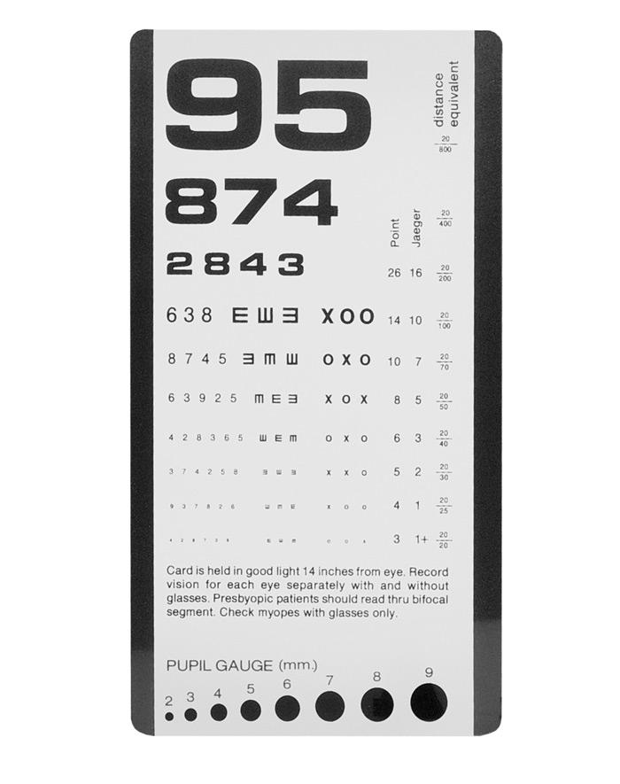 Regleta visual blanco y negro 3908