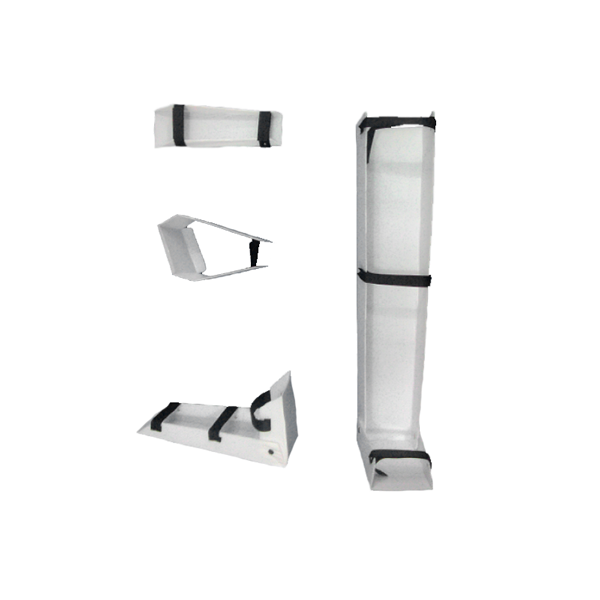 Kit de inmovilización en Carton Plast - Adulto Kit de inmovilización en carton plast compuesto por 5 ferulas tamaño: adulto (Inmovilizador de cuello, antebrazo, brazo, mano y pierna)