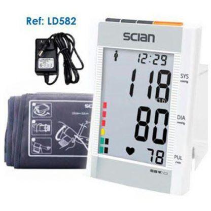 Tensiómetro digital automatico de brazo con estuche y adaptador de corriente