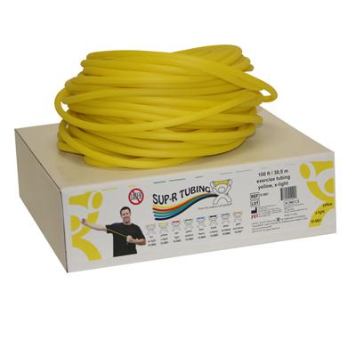 Tubo elástico x rollo color amarillo