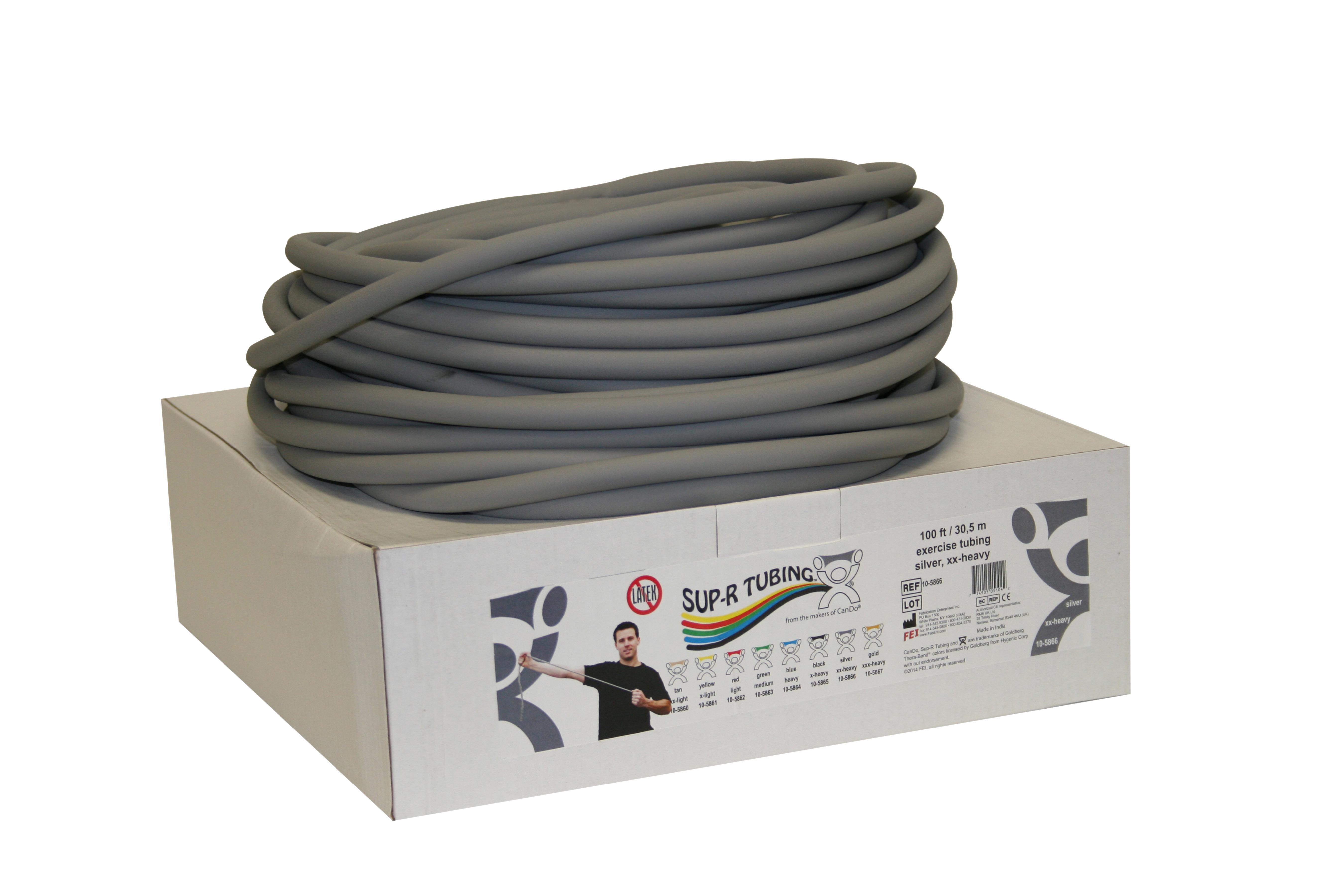 Tubo elástico x rollo color gris