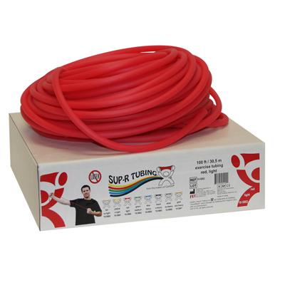 Tubo elástico x rollo color rojo
